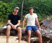 Dominik und Michael am Railay Beach