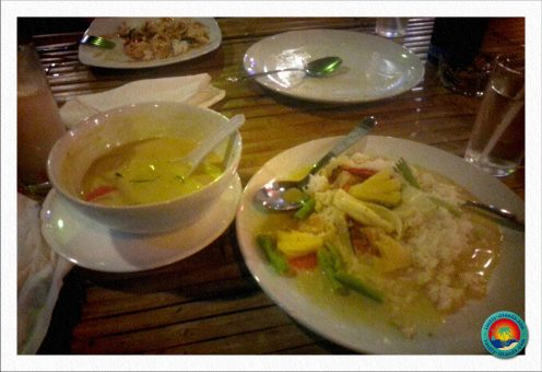 Unser erstes Thai-Curry in Khao Lak