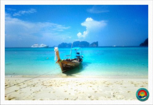 Traumhafter Longbeach mit Blick auf Phi Phi Leh