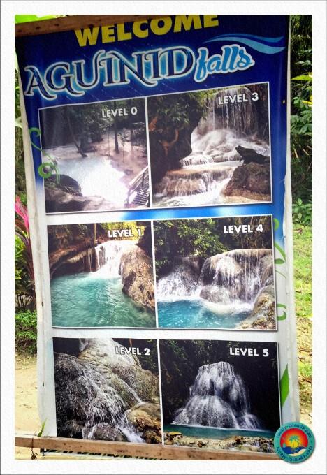 Aguinid Falls Übersichtskarte