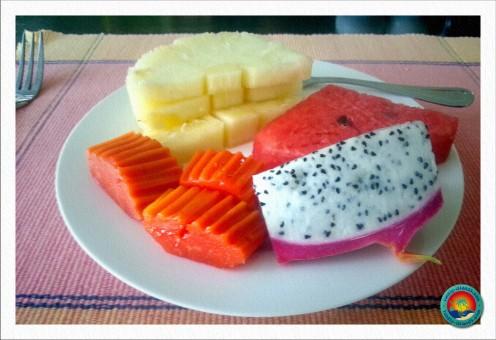 Jeden Morgen frische Früchte