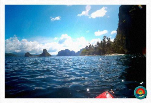 auf dem Weg zu Pinagbuyutan Island