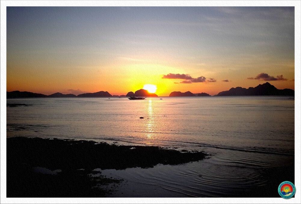 El Nido Sonnenuntergang vom Corong Corong Beach