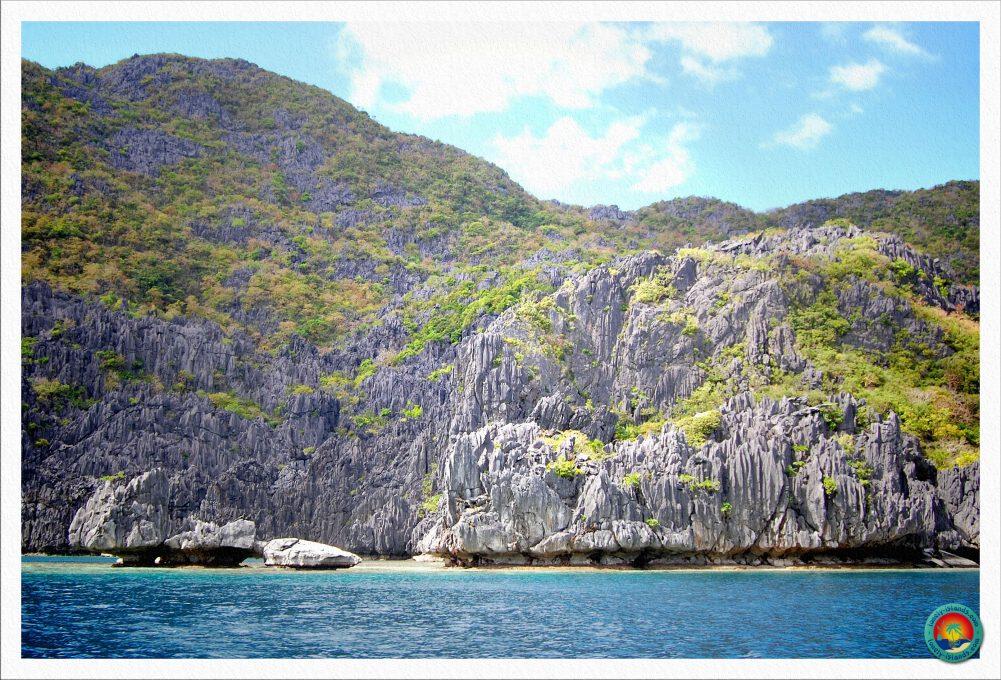 Paradiesische Landschaft in der Bacuit Bay