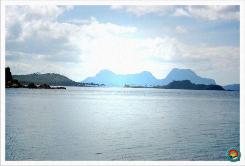 Blick auf den Nacpan Beach Doppelstrand