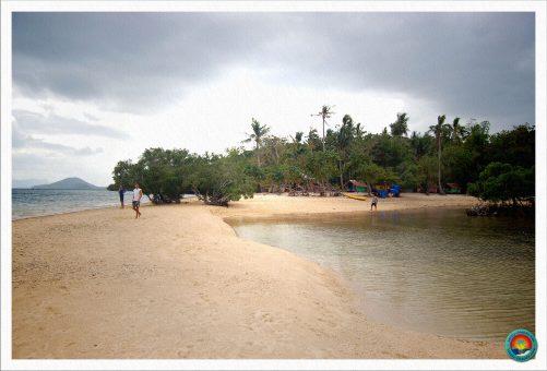 Sandbank auf der letzten Basecampinsel